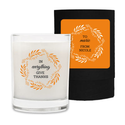 Seasonal Fall Candle In Everything Give Thanks.