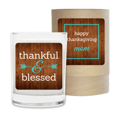 Thankful and Blessed Thanksgiving Fall Candle.