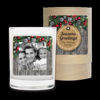 Seasonal, holiday, Christmas, Rustic, Photo Frame.
