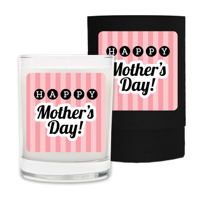 Mothers Day Happy Stripes Candle & Box.