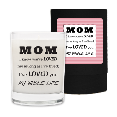Mothers Day My Whole Life Candle & Box