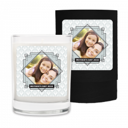 Mothers Day Art Deco Photo Frame Candle