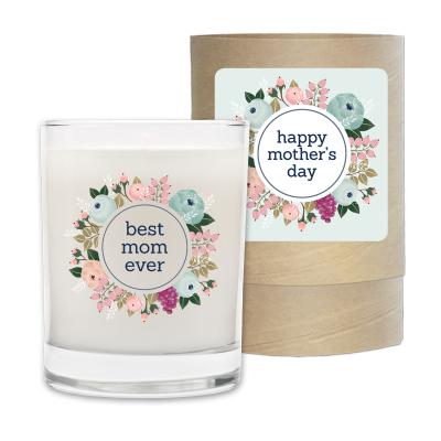 Mothers Day Best Mom Ever Candle & Box