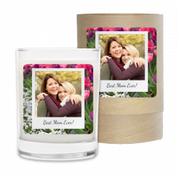 Mothers Day Tulips Polaroid Candle & Box