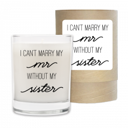 My Sister Wedding Candle & Box.