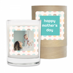 Mothers Day Dots Photo Frame Candle & Box
