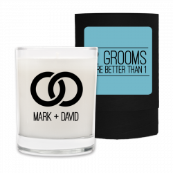 Two Grooms Wedding Candle