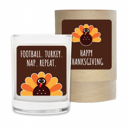 Holiday Candle - Football, Turkey, Nap, Repeat