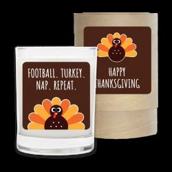 Holiday Candle - Football, Turkey, Nap, Repeat