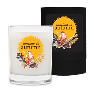 Sunshine in Autumn - Fall Candle and Box