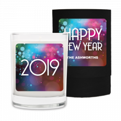 New Year Bubbles 2019 Personalized Candle