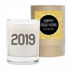 New Year 2019 Personalized Candle